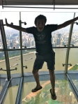 Jumping on a glass floor!