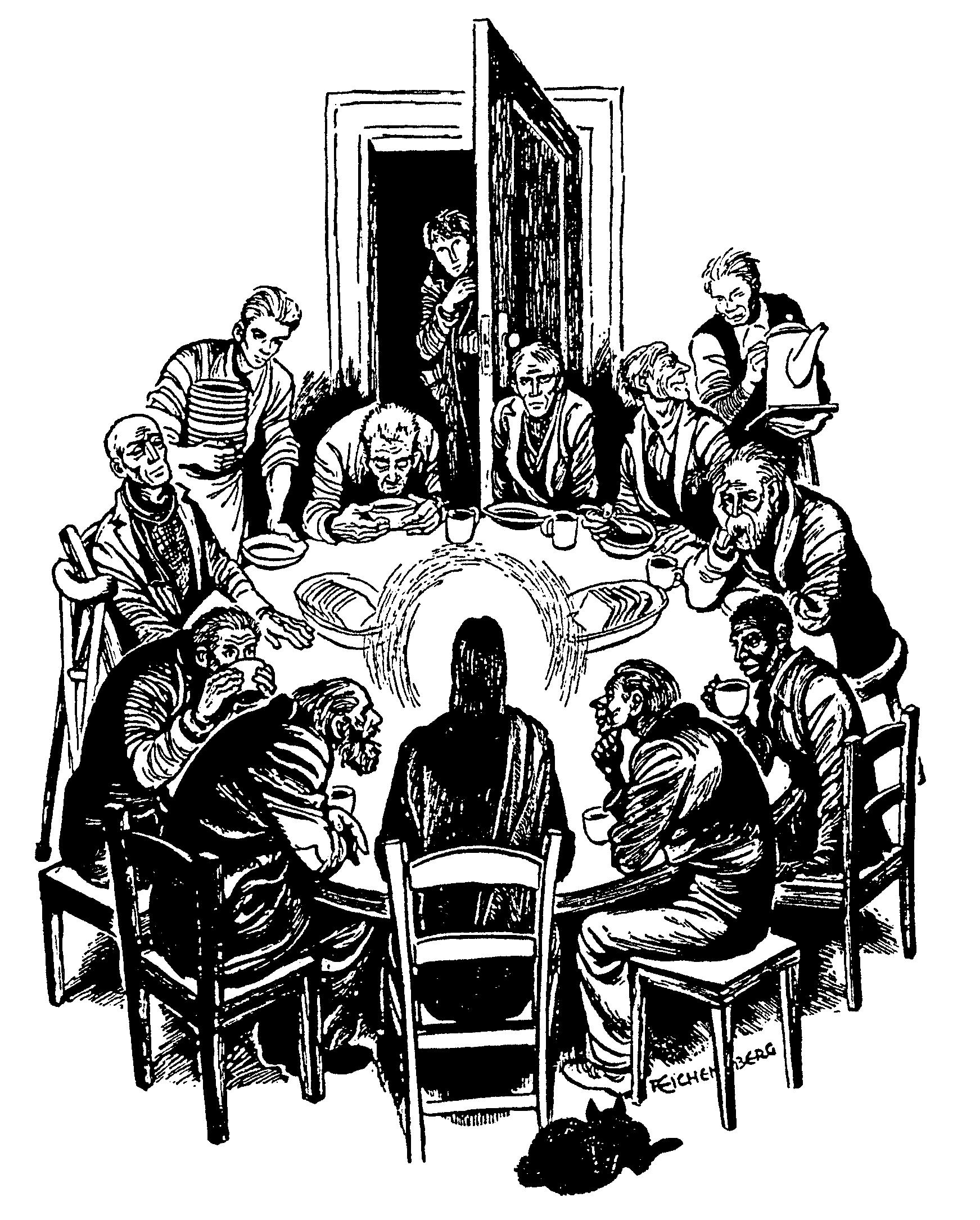 The Last Supper by Fritz Eichenberg